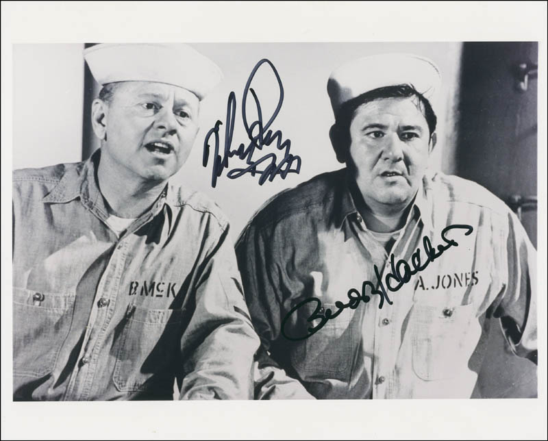 Image 1 for Everything'S Ducky Movie Cast - Autographed Signed Photograph co-signed by: Buddy Hackett, Mickey Rooney - HFSID 297030