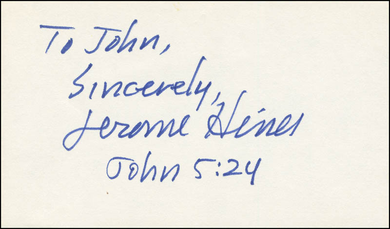 Image 1 for Jerome Hines - Autograph Note Signed - HFSID 297259