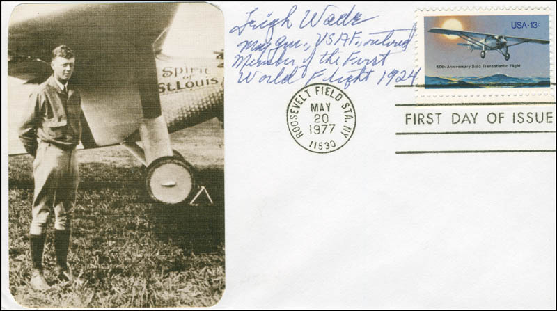 Image 1 for Major General Leigh Wade - First Day Cover Signed - HFSID 297271