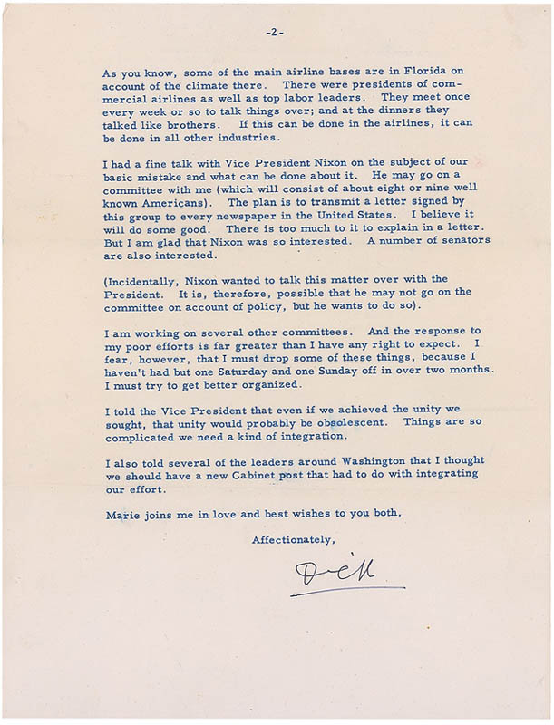 Image 3 for Rear Admiral Richard E. Byrd - Typed Letter Signed 03/27/1953 - HFSID 297291