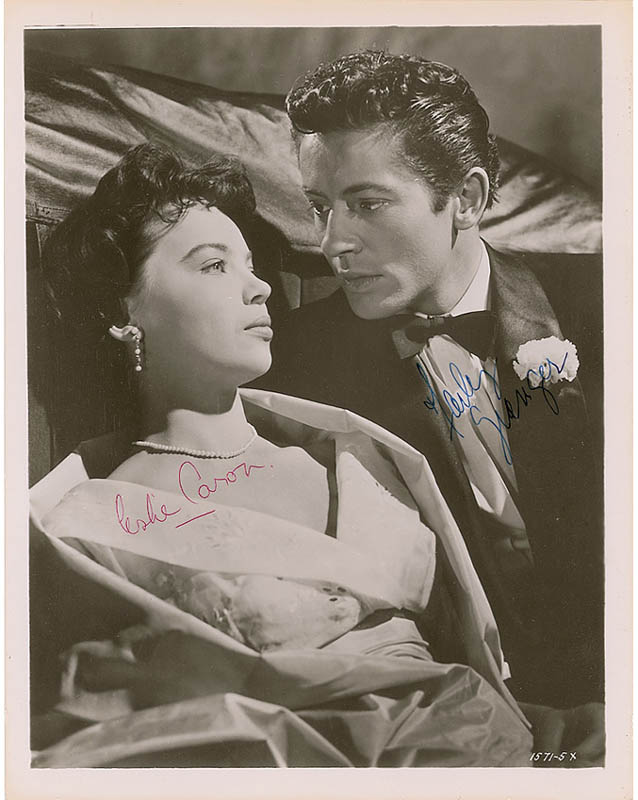 Image 1 for The Story Of Three Loves Movie Cast - Autographed Signed Photograph co-signed by: Leslie Caron, Farley Granger - HFSID 297309
