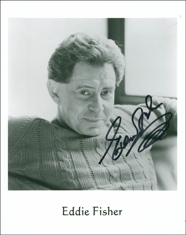 Image 1 for Eddie Fisher - Autographed Signed Photograph - HFSID 297372