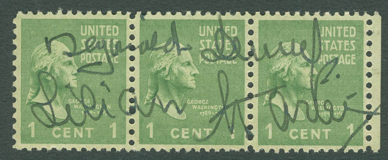 Image 1 for Reginald Denny - Stamp(s) Signed co-signed by: Lilian Harvey - HFSID 297410