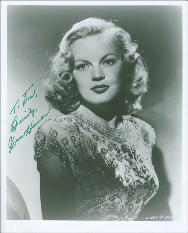 Image 1 for June Haver - Autographed Inscribed Photograph - HFSID 297426