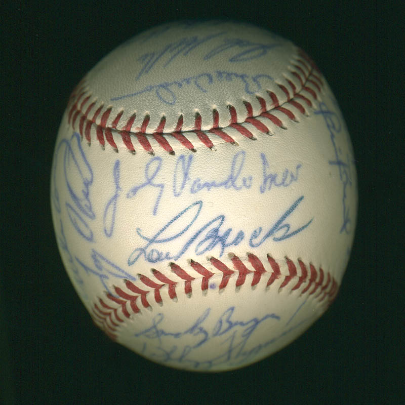 Image 3 for Curt Flood - Autographed Signed Baseball with co-signers - HFSID 297447