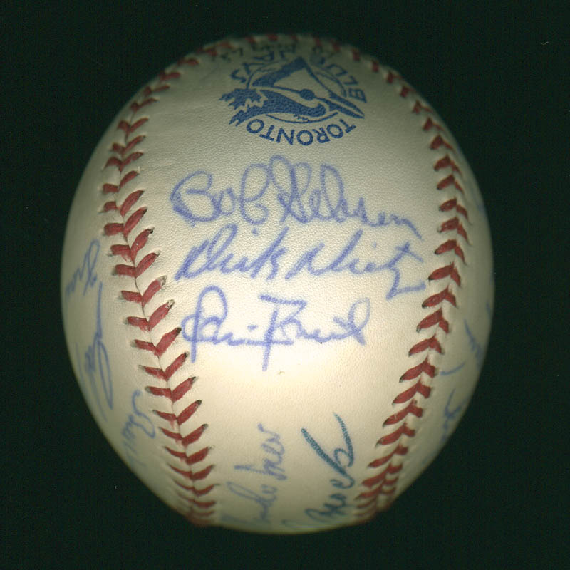Image 4 for Curt Flood - Autographed Signed Baseball with co-signers - HFSID 297447