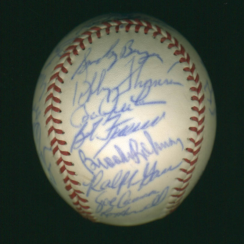 Image 5 for Curt Flood - Autographed Signed Baseball with co-signers - HFSID 297447