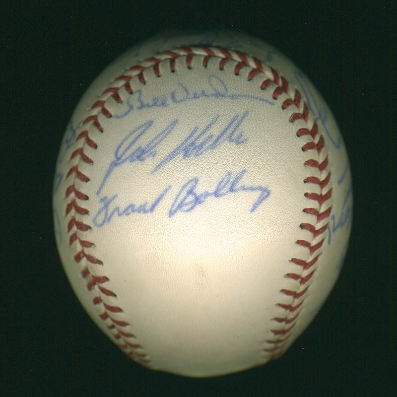 Image 6 for Curt Flood - Autographed Signed Baseball with co-signers - HFSID 297447
