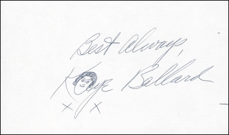 Image 1 for Kaye Ballard - Autograph Sentiment Signed - HFSID 297496