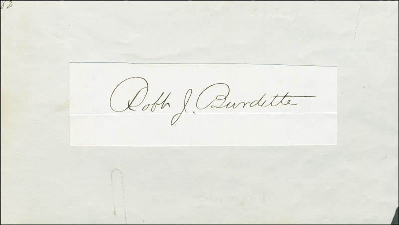 Image 1 for Robert J. Burdette - Autograph - HFSID 297500