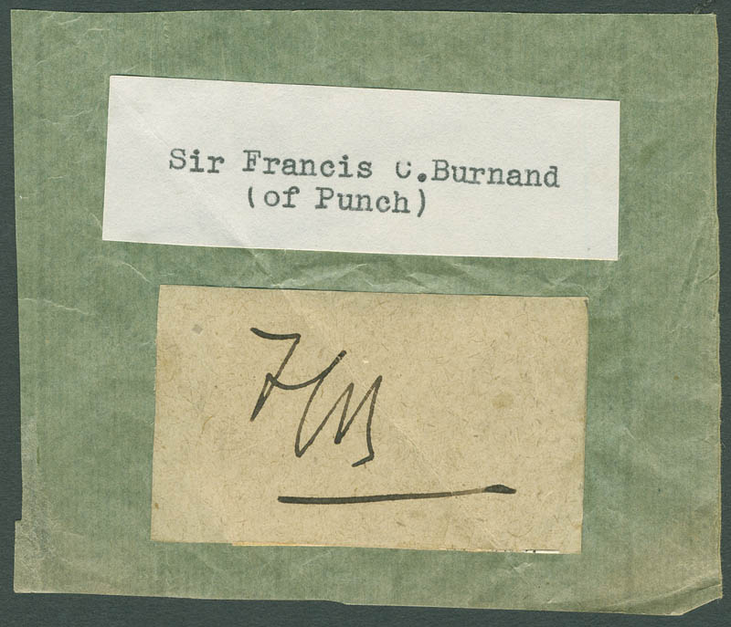 Image 1 for Sir Francis C. Burnand - Autograph - HFSID 297501
