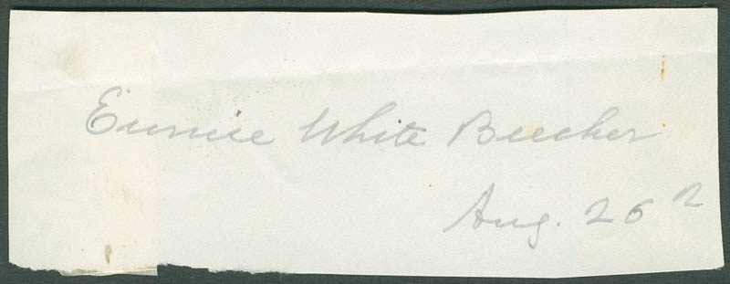 Image 1 for Eunice (Mrs. Henry Ward) Beecher - Autograph 08/26 - HFSID 297561