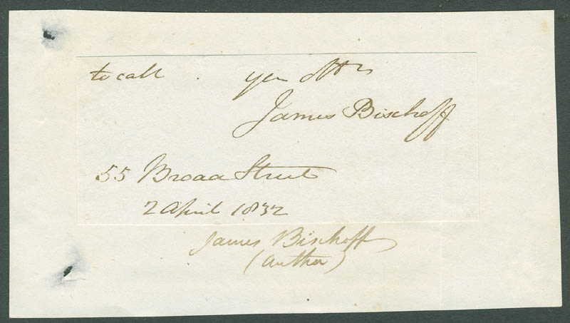 Image 1 for James Bischoff - Autograph Sentiment Signed 04/02/1832 - HFSID 297567