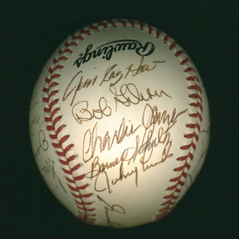 Image 3 for Curt Flood - Autographed Signed Baseball with co-signers - HFSID 297644