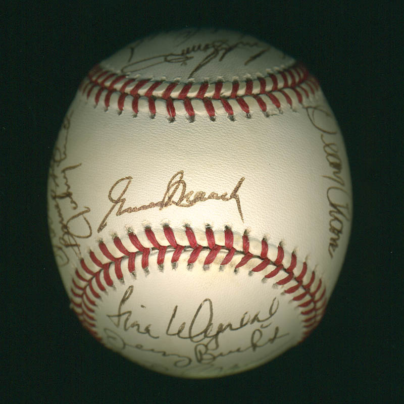 Image 4 for Curt Flood - Autographed Signed Baseball with co-signers - HFSID 297644