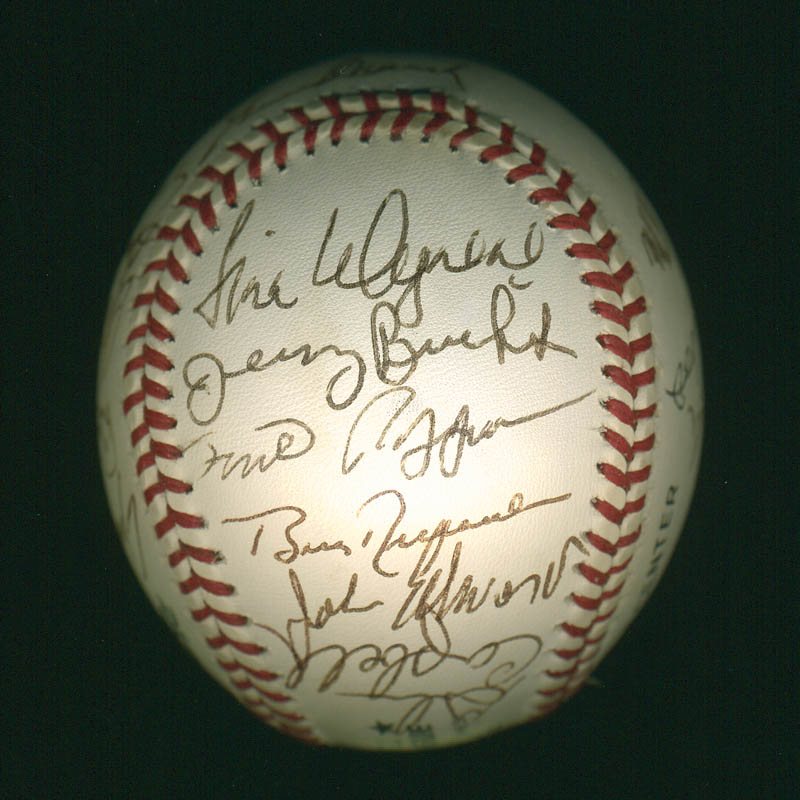 Image 5 for Curt Flood - Autographed Signed Baseball with co-signers - HFSID 297644
