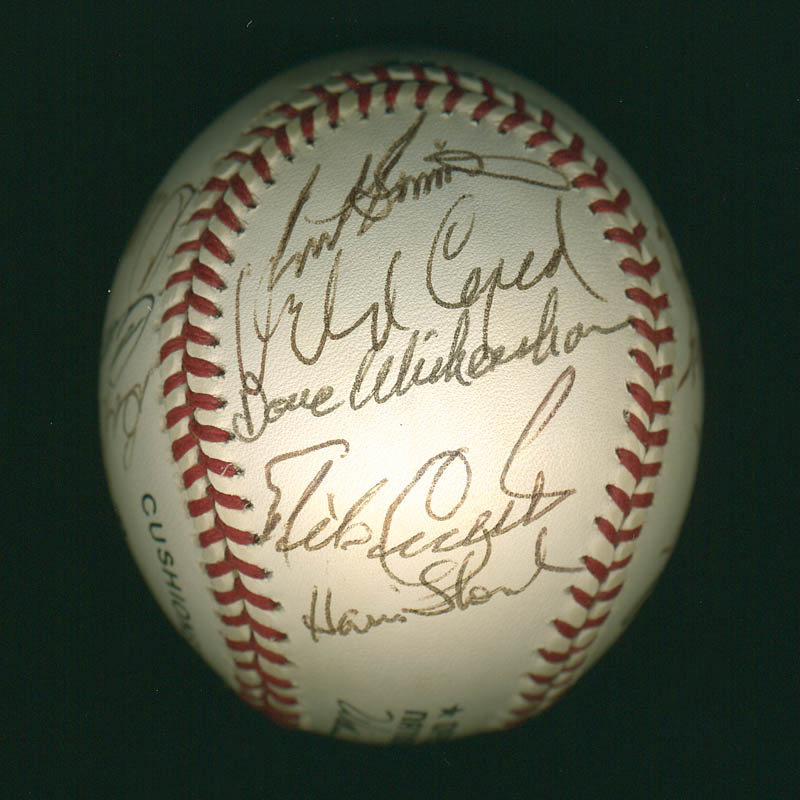 Image 6 for Curt Flood - Autographed Signed Baseball with co-signers - HFSID 297644