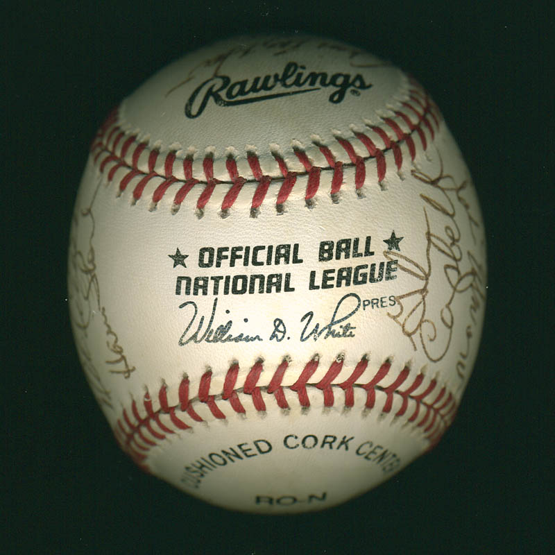 Image 7 for Curt Flood - Autographed Signed Baseball with co-signers - HFSID 297644
