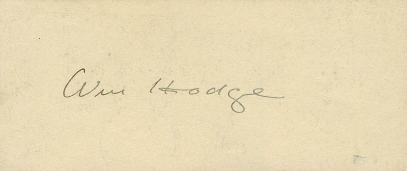 Image 1 for William Hodge - Autograph - HFSID 297670