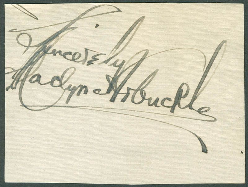 Image 1 for Maclyn Arbuckle - Autograph Sentiment Signed - HFSID 297804