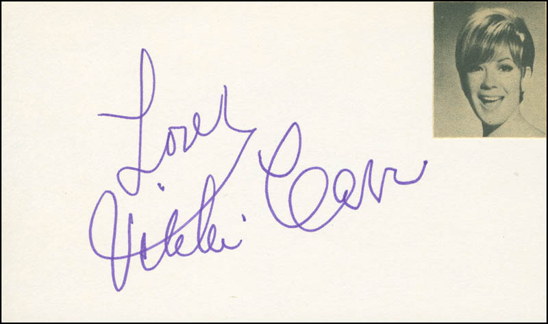 Image 1 for Vikki Carr - Autograph Sentiment Signed - HFSID 297907