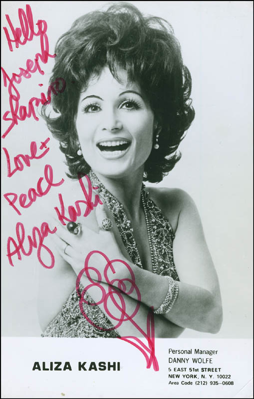 Image 1 for Aliza Kashi - Autographed Inscribed Photograph - HFSID 297943