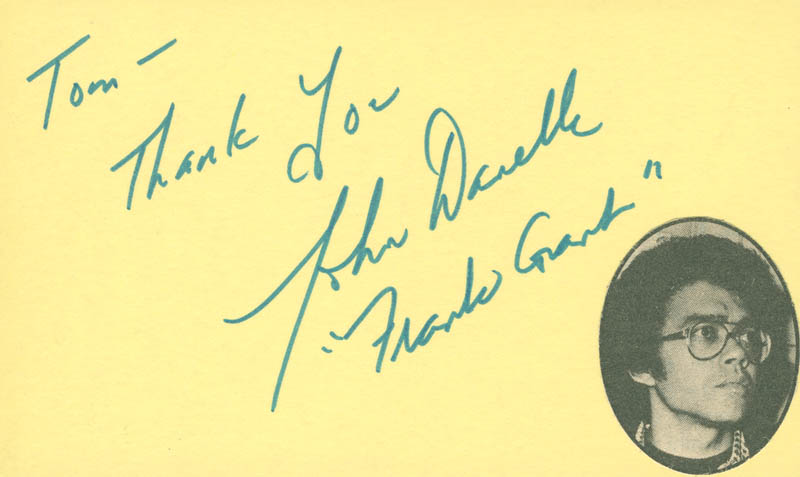 Image 1 for John Danelle - Autograph Note Signed - HFSID 297952