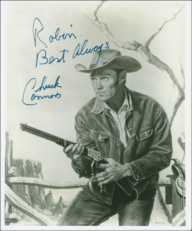 Image 1 for Chuck Connors - Autographed Inscribed Photograph - HFSID 298019