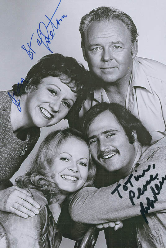 Image 1 for All In The Family TV Cast - Autographed Inscribed Photograph co-signed by: Rob Reiner, Jean Stapleton - HFSID 298027