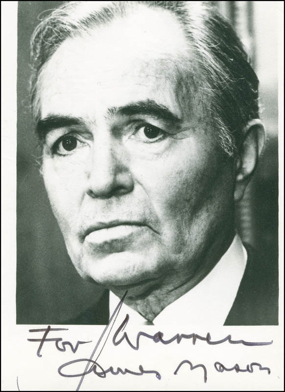 Image 1 for James Mason - Autographed Inscribed Photograph - HFSID 298120