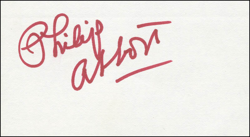 Image 1 for Philip Abbott - Autograph - HFSID 298167