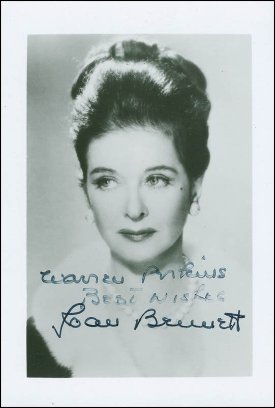 Image 1 for Joan Bennett - Autographed Inscribed Photograph - HFSID 298172