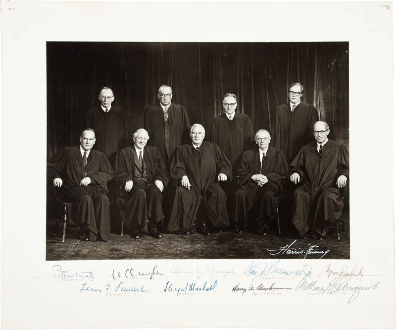 Image 1 for The Warren E. Burger Court - Autographed Signed Photograph with co-signers - HFSID 298246