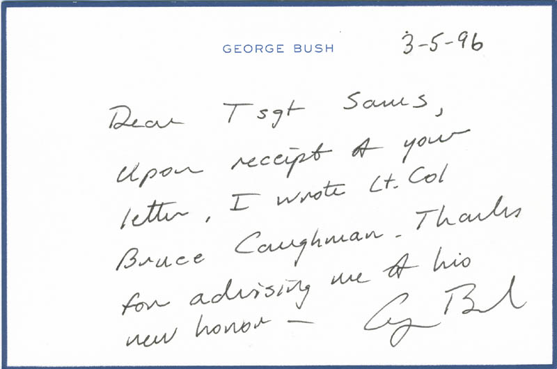 Image 1 for President George H.W. Bush - Autograph Letter Signed 03/05/1996 - HFSID 298254