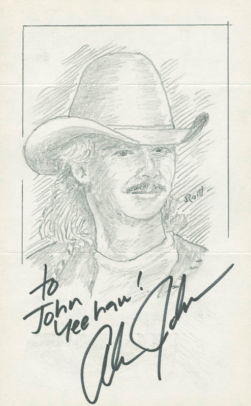 Image 1 for John Raitt - Inscribed Original Art Signed co-signed by: Alan Jackson - HFSID 298476