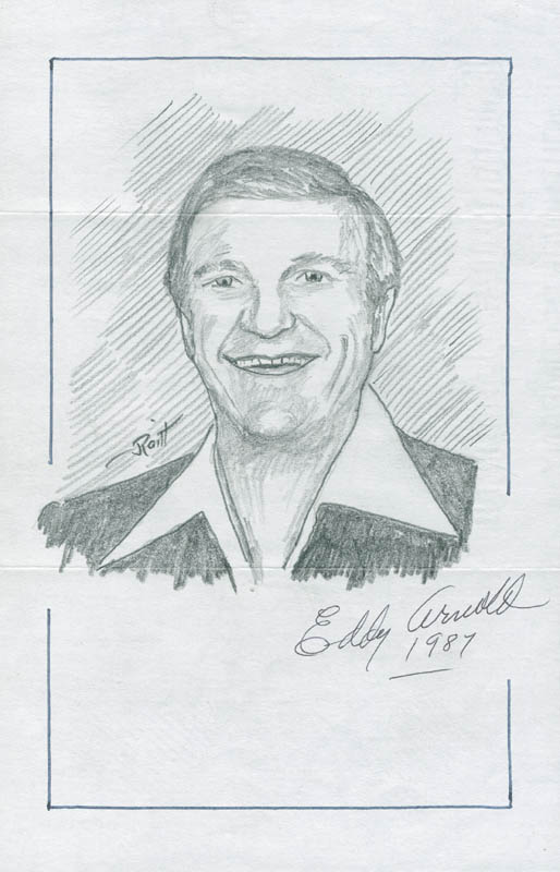 Image 1 for John Raitt - Inscribed Original Art Signed 1987 co-signed by: Eddy Arnold - HFSID 298478