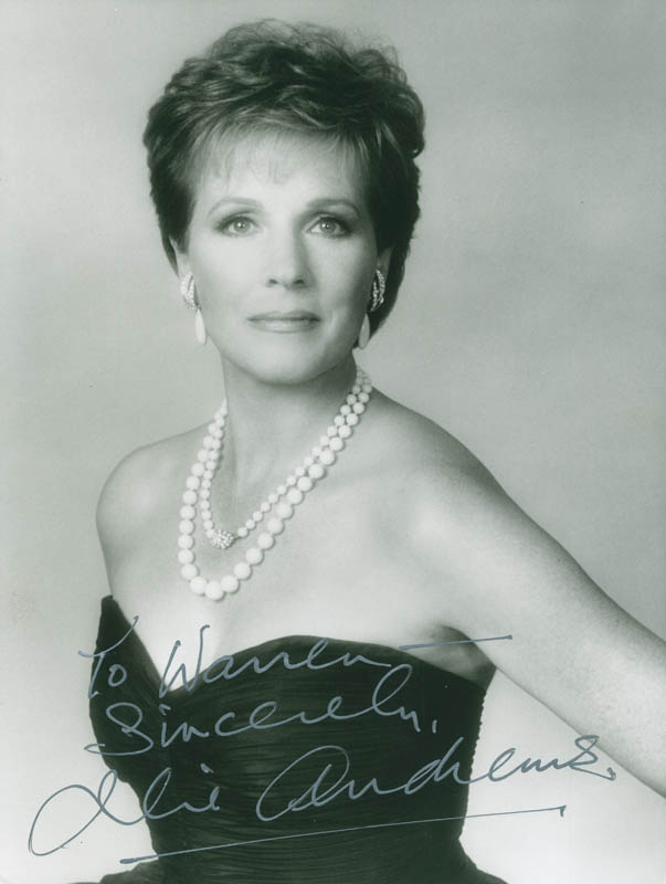 Image 1 for Julie Andrews - Autographed Inscribed Photograph - HFSID 298533