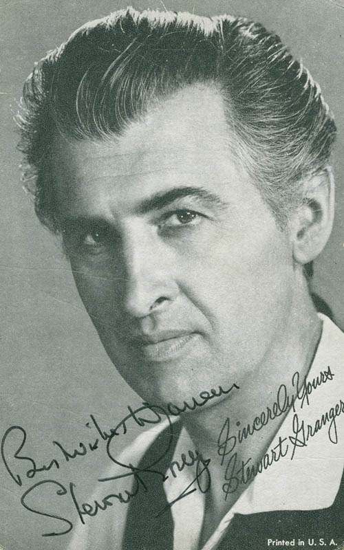 Image 1 for Stewart Granger - Autographed Inscribed Photograph - HFSID 298545