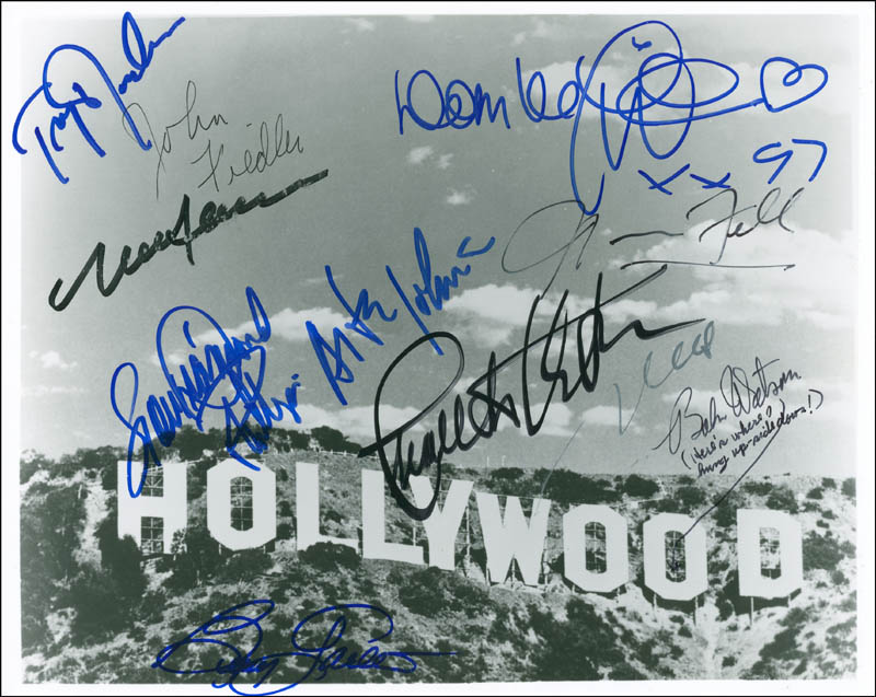 Image 1 for Dom Deluise - Autographed Signed Photograph with co-signers - HFSID 298550