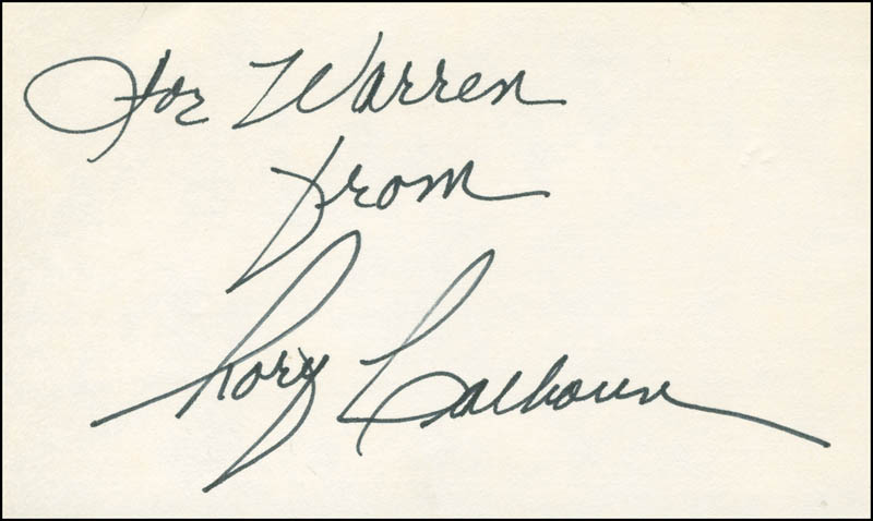 Image 1 for Rory Calhoun - Autograph Note Signed - HFSID 298576