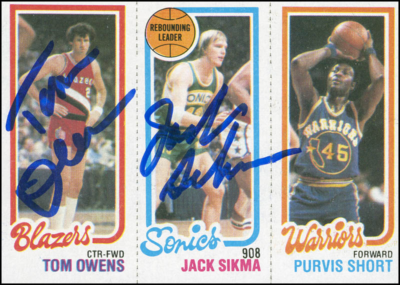 Image 1 for Jack Sikma - Trading/Sports Card Signed co-signed by: Tom Owens - HFSID 298604