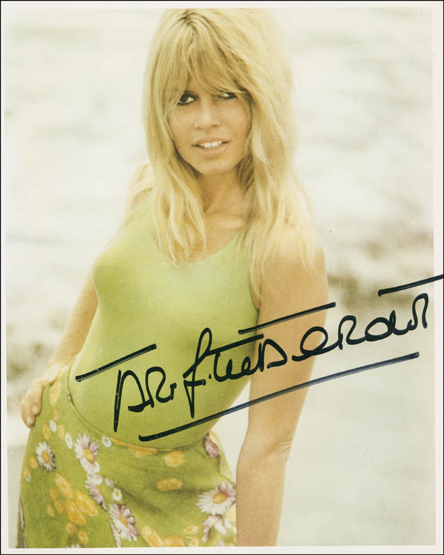 Image 1 for Brigitte Bardot - Autographed Signed Photograph - HFSID 298609