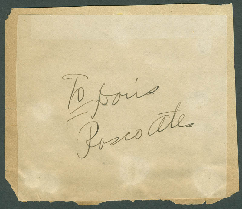 Image 1 for Roscoe Ates - Inscribed Signature - HFSID 298641