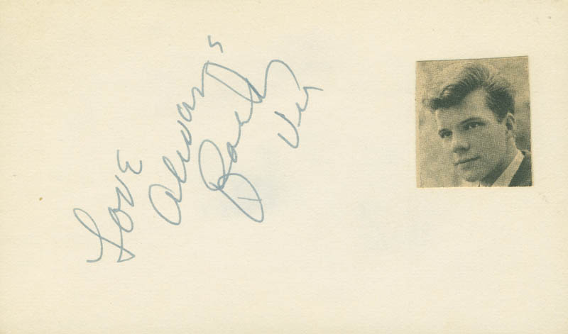 Image 1 for Bobby Vee - Autograph Sentiment Signed - HFSID 298669