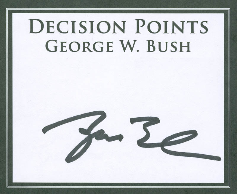 Image 1 for President George W. Bush - Book Plate Signed - HFSID 298713