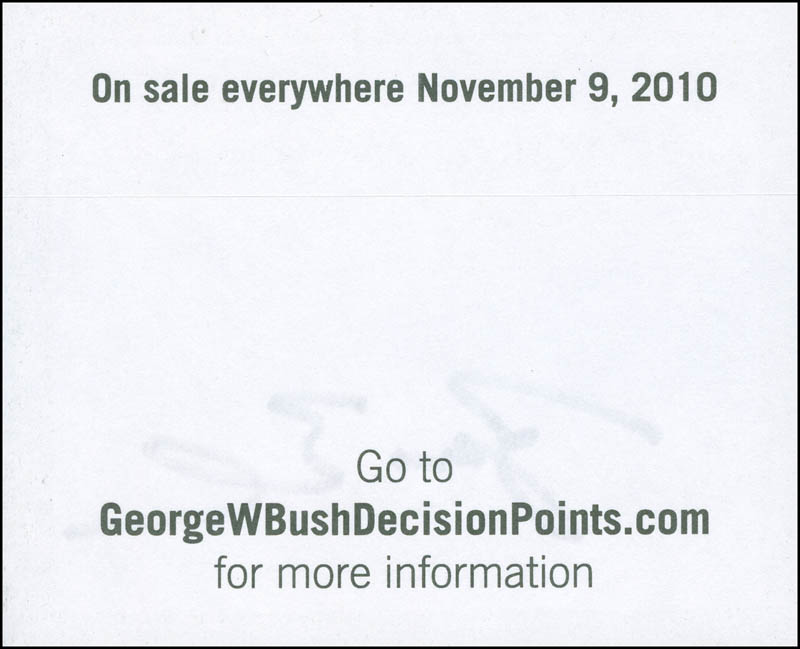 Image 3 for President George W. Bush - Book Plate Signed - HFSID 298713
