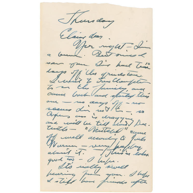 Image 1 for Gary Cooper - Autograph Letter Signed 10/06/1955 - HFSID 298722