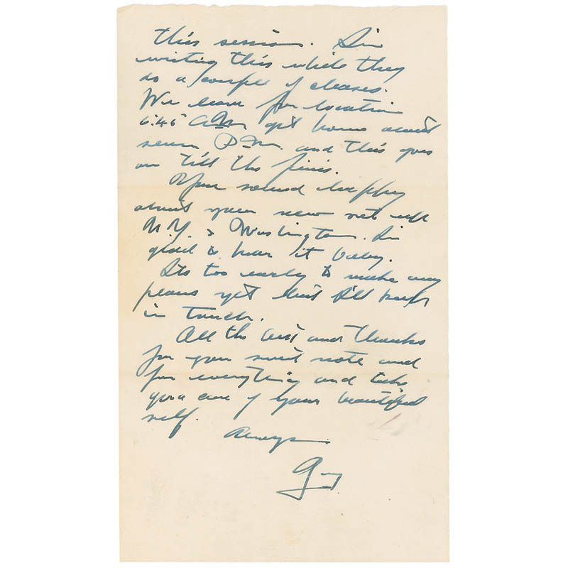 Image 3 for Gary Cooper - Autograph Letter Signed 10/06/1955 - HFSID 298722