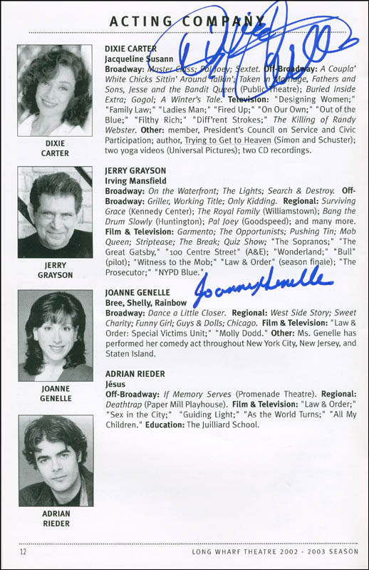 Image 1 for Paper Doll Play Cast - Show Bill Signed Circa 2006 co-signed by: Dixie Carter, Joanne Genelle - HFSID 298802