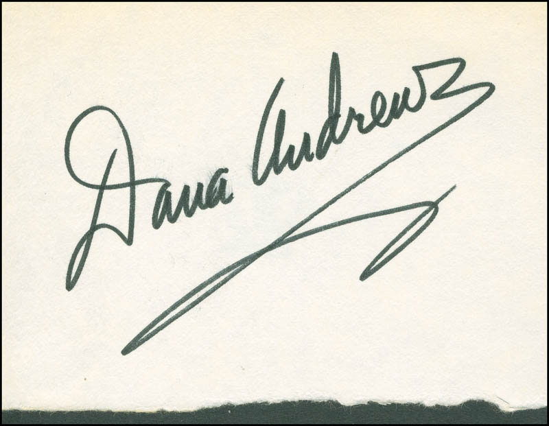 Image 1 for Dana Andrews - Autograph - HFSID 298849